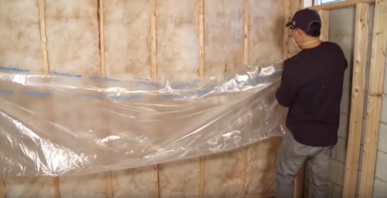 insulation contractor installing foam